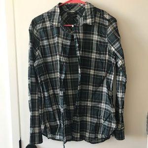 JCREW long sleeve button down plaid shirt